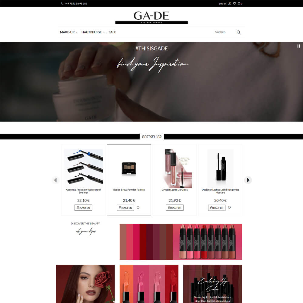 Full eCommerce Betreuung - gade-europe.com