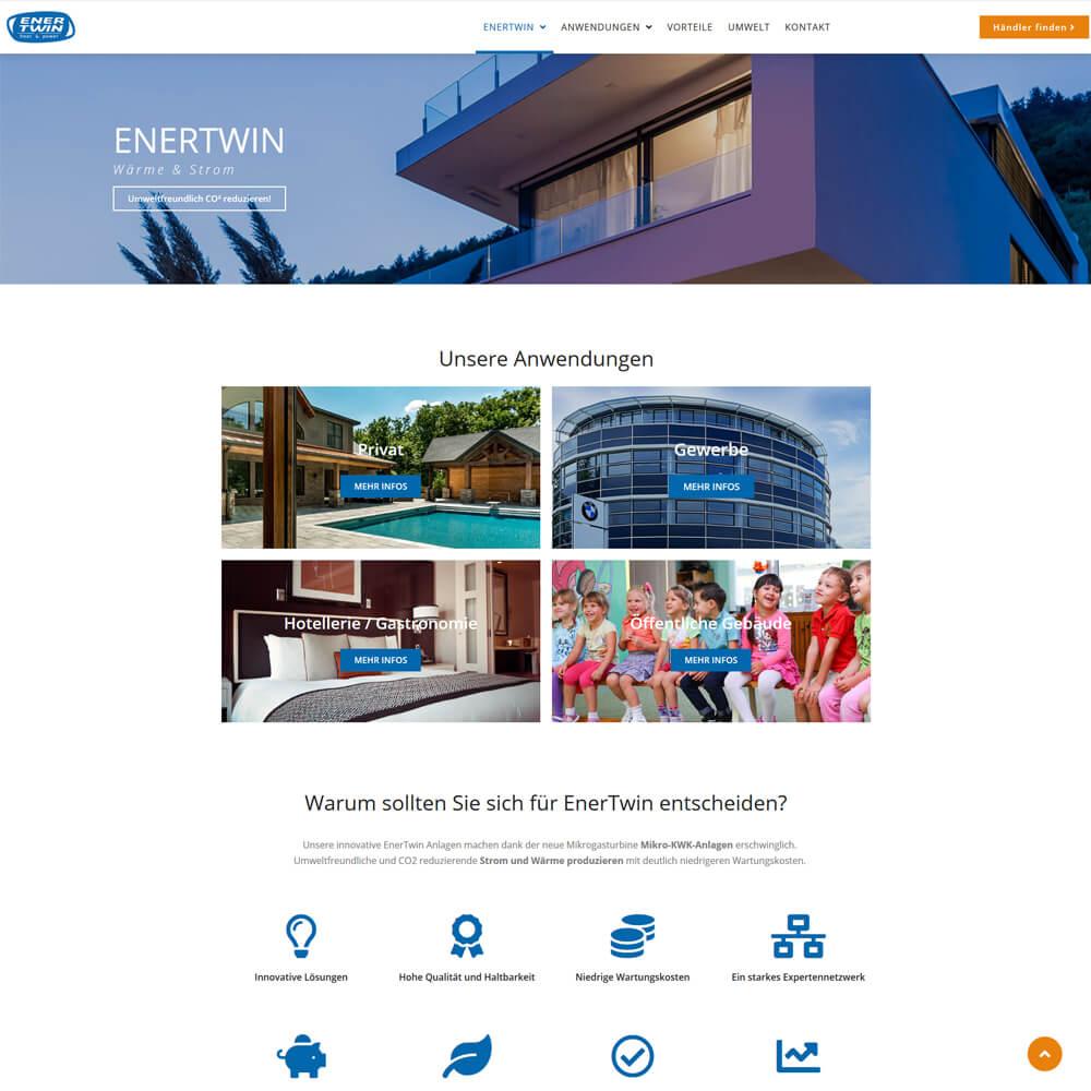 Relaunch mit Wordpress - enertwin-deutschland.de