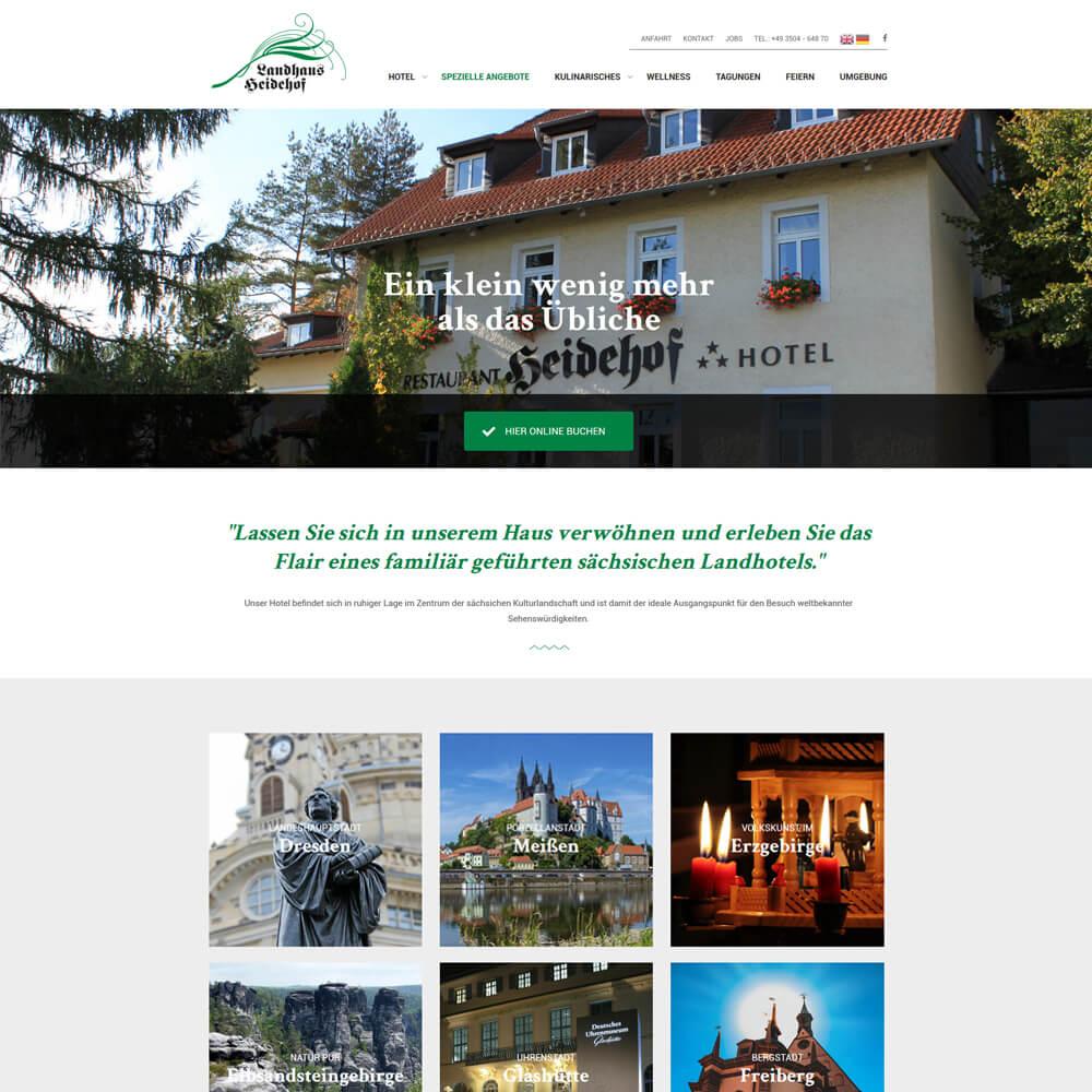 Redesign mit Wordpress - Landhaus Heidehof