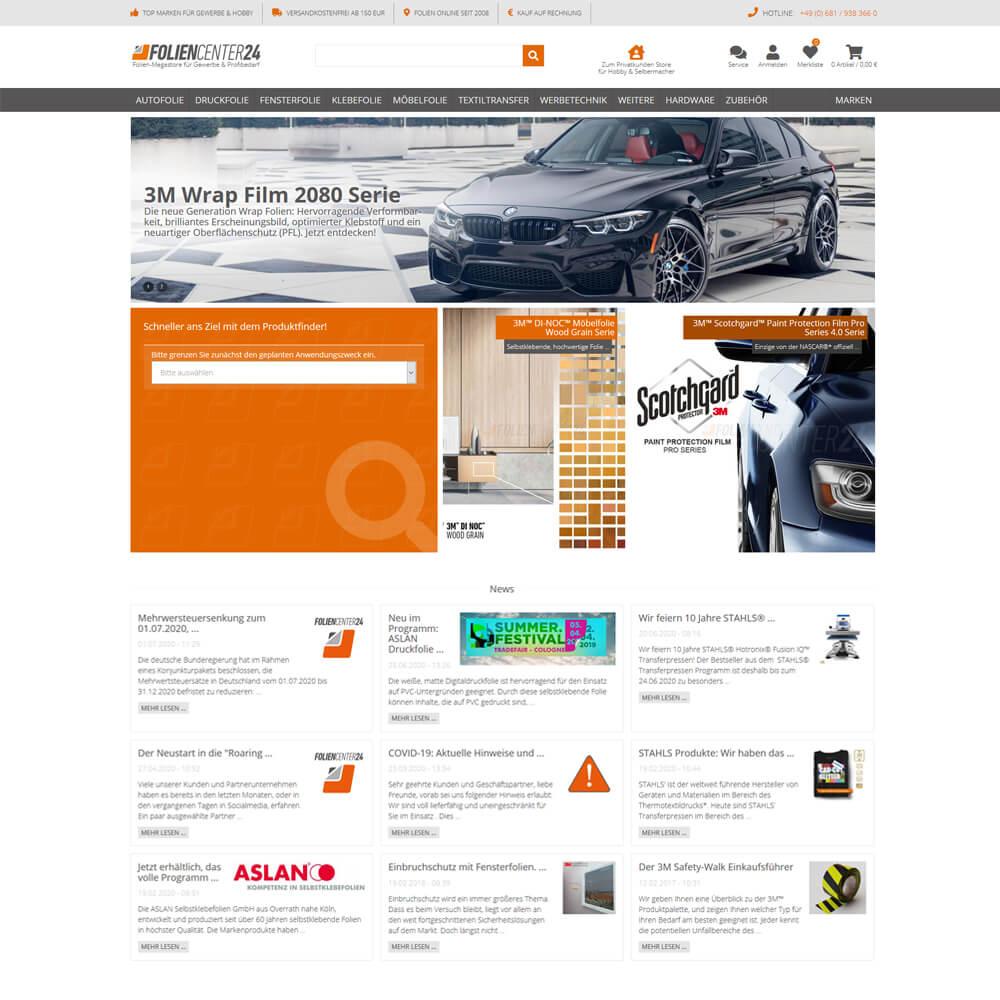 foliencenter24.com - Migration Magento auf JTL Shop4